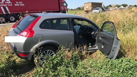 The A47, between Cromwell Road, Wisbech and Guyhirn has been closed following a two-vehicle crash ne