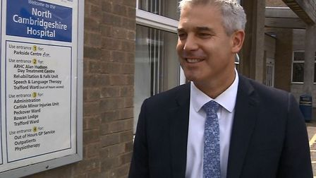 Steve Barclay, minister of state for the department of health, visiting North Cambridgeshire Hospita