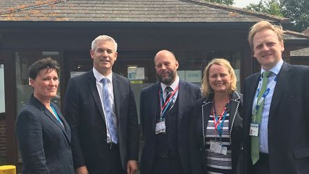 He cast aside his MP role today for a ministerial visit to North Cambs Hospital, Wisbech. MP Steve B