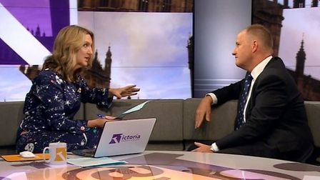 Kevin Hollindrake appears on the Victoria Derbyshire programme. Photograph: BBC.