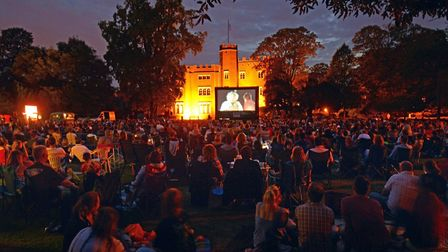 Hertford Castle open air cinema. Picture: Steve Beeston Photography.