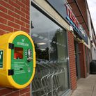The defibrillator which is available outside the Tesco express in Moors Walk shops. Picture: DANNY L
