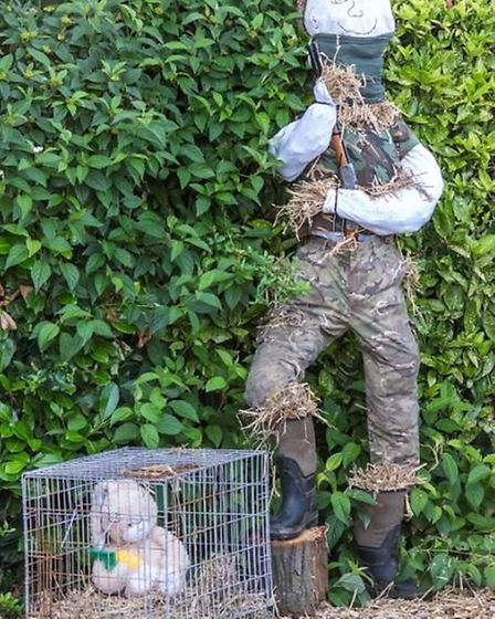 Emneth welcomed some unique characters to their scarecrow display. Photo: Carrie Mcnaughton.