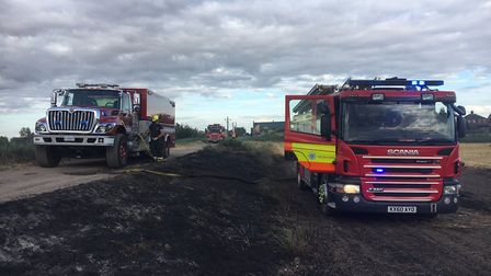 Cambridgeshire Fire and Rescue called in help from the United States Air Force again when tackling a