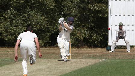 Matthew Grant walloped 20 off the final over to see Welwyn Garden City to victory over Bishop's Stor