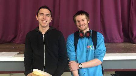 Adam Mansell and Luke Kingwell. Picture: supplied by Sir Frederic Osborn School