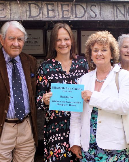 Members of Ann Carlisle's family gathered at Octavia Hill's Birthplace House for the unveiling of a