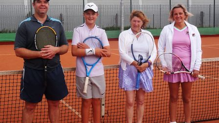 Justin Jackson, Seth Briggs-Williams, Wendy Cropp, and Laura Brett pictured at the finals. Picture:
