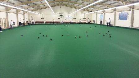 Under threat: Hudson indoor bowls club at Wisbech. It follows decision by Fenland Council to hand ov
