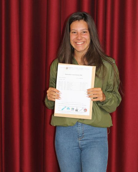 Top achiever Iulia Pavliscek. Picture: supplied by Onslow St Audrey's School