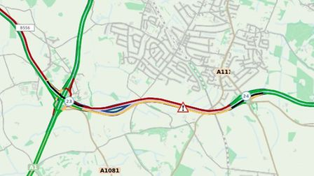 There is currently congestion on the M25 affecting South Mimms, Potters Bar and St Albans. Picture: