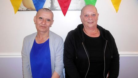 Nicole Thompson and Diane Parker have raised 1,500 for Macmillan Cancer Support after both braving a