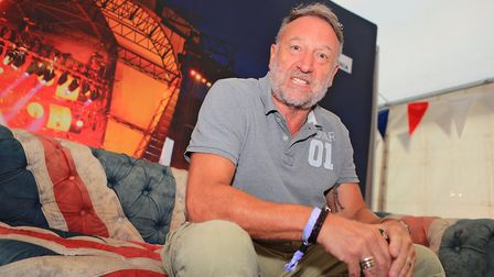 Peter Hook relaxing in the green room at Cool Britannia Festival 2018. Picture: KEVIN RICHARDS