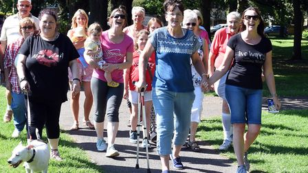 Sponsored event to walk all over cancer at Wisbech park. PHOTO: Ian Carter