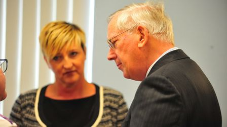 HRH The Duke of Gloucester on his visit to Waterlees estate in Wisbech. Picture: HARRY RUTTER