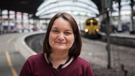 Railway chaplain Angela Harwood, who looks after the Great Northern line between King's Cross and St