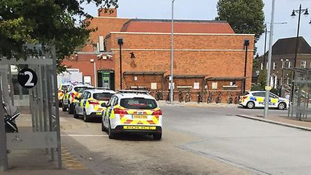 Police at Hatfield Station. Picture: Supplied.