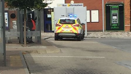 Police and ambulance at Hatfield Station. Picture: Supplied