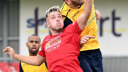 Aaron Hart, in action here against Frickley, scored the goal that earned Wisbech Town victory at Car