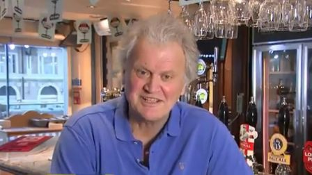 Tim Martin appears on TV. Photograph: GMB/ITV.