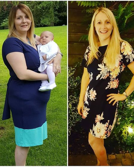 Sarah lost her baby weight thanks to Slimming World