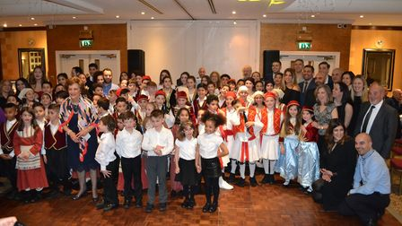 The pupils dressed up in traditional Greek costume. Picture: supplied