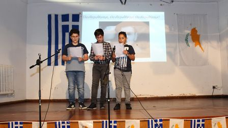 Greek School pupils in song. Picture: supplied