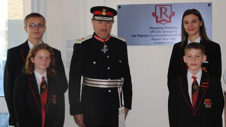 Lord Lieutenant of Hertfordshire visits The Ridgeway Academy. Picture: The Ridgeway Academy