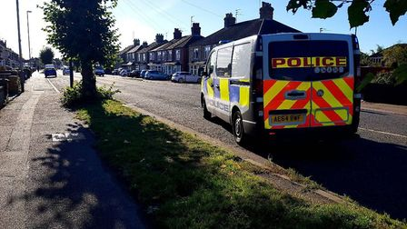 A woman in her 40s was treated for minor injuries after being knocked off her bike in Wisbech Road,