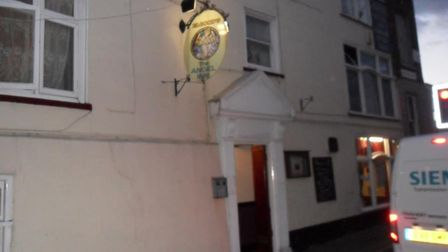 Angel, Wisbech, where two police officers were injured, including one hit over the head with a glass