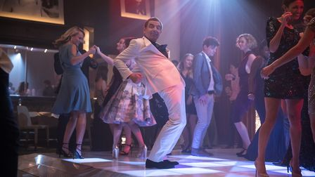 Rowan Atkinson showing off his best moves in Johnny English Strikes Again