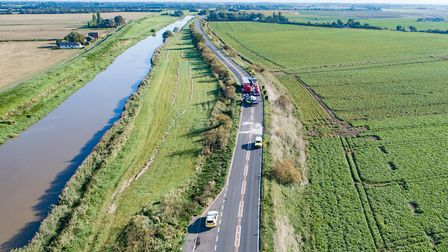RTC A47 blocks road with 50mile diversions,A47, WisbechTuesday 25 September 2018.Picture by Terr