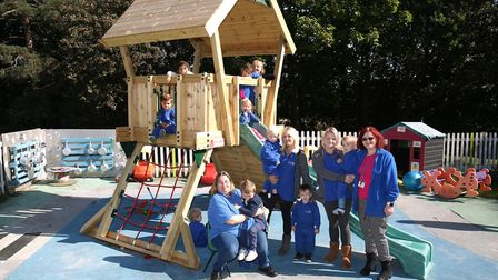St John's Nursery Playgroup have revamped their outside play area thanks to a £4000 grant from Tesco