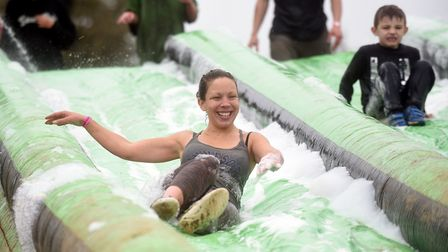 More than 1,000 runners took part in the Insane Terrain muddy obstacle run in Doddington. PHOTO: Ian