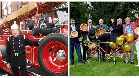 Freedom of Wisbech given to Vivien the fire engine and the In Bloom voluntters.
