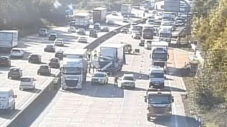 There has been a lorry crash on the M25 near Potters Bar. Picture: Highways England
