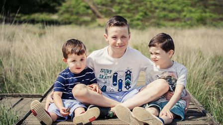 The three siblings have been awarded for the courage and bravery. Left to right - Logan, Liam and Je