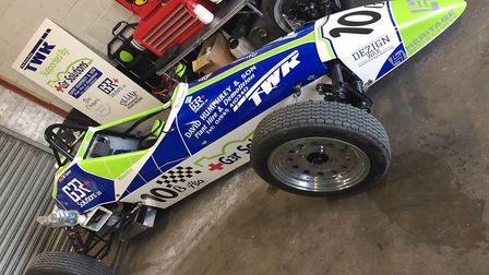 Wisbech man Bill 'Wom' Garner clinches second place in British Championship. Here is the car that he