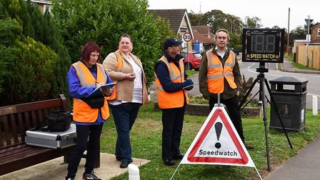 Community speedwatch with Cllr Bligh and Cllr Booth with residents. Picture: HARRY R WILLIAMS ROGERS