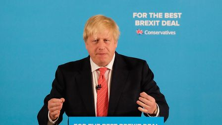 Boris Johnson ahead of the 2017 general election. (Photo by Ian Forsyth/Getty Images)