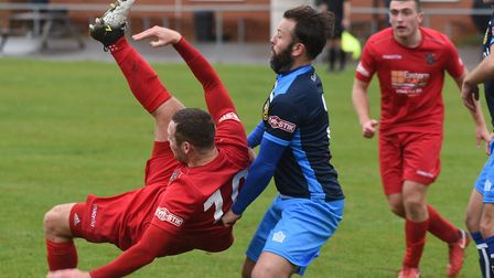 Alex Beck of Wisbech Town in their home defeat against Tadcaster Albion. Picture: IAN CARTER.