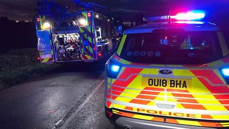 Three people were taken to hospital last night (October 6) with serious injuries after a car was inv