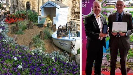 Massive effort such as that photographed on the left enabled in bloom enthusiasts (right) to collect