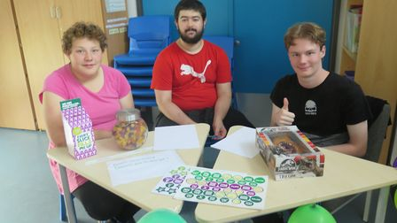 Meadowgate Academy's sixth formers ready to serve at the school's Macmillan coffee morning. Picture: