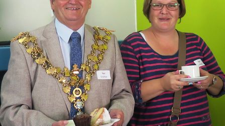 Mayor of Wisbech, Councillor Peter Human, was one of the guests at Meadowgate Academy's Macmillan Co