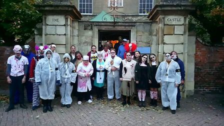 Castle of the dead team prepare for Halloween at Wisbech Castle
