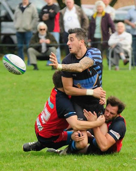 Wisbech Rugby Club: James Napier and Craig Harron. Picture: LEONARD VEENENDAAL.