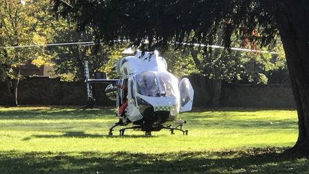 An air ambulance was called to Wisbech this morning after a man was injured in a work-related incide