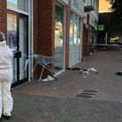 Police at the scene of the fight in Hatfield. Picture: Adam Law