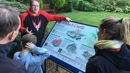 On a guided tour of Wisbech Castle. Picture: HARRY RUTTER